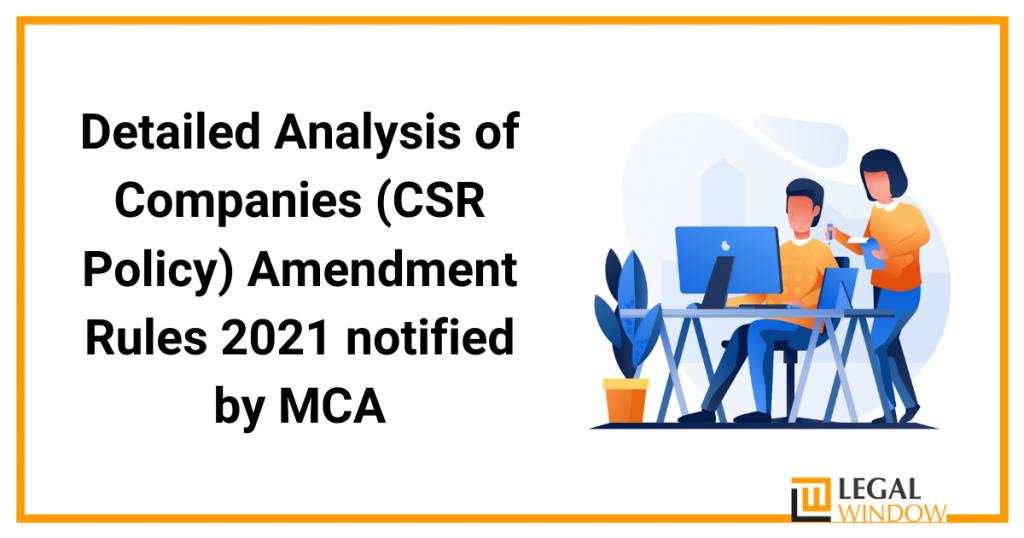 Amendment rules 2021